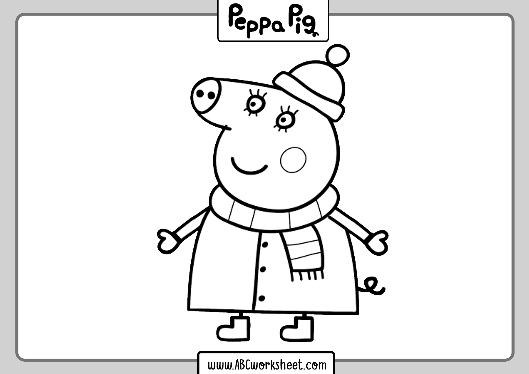 Peppa Pig For Colouring