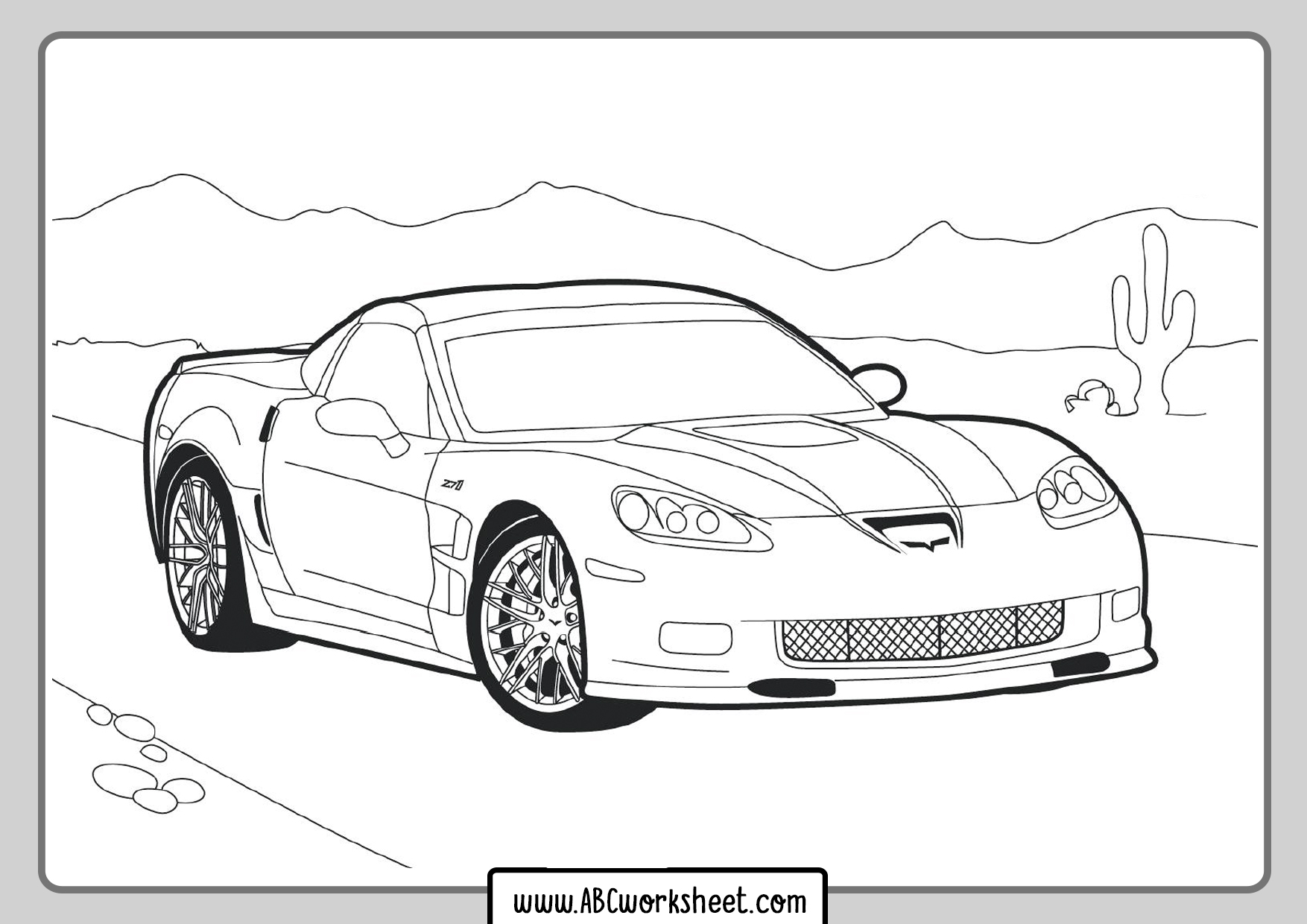 Print Racing Car Coloring Pages