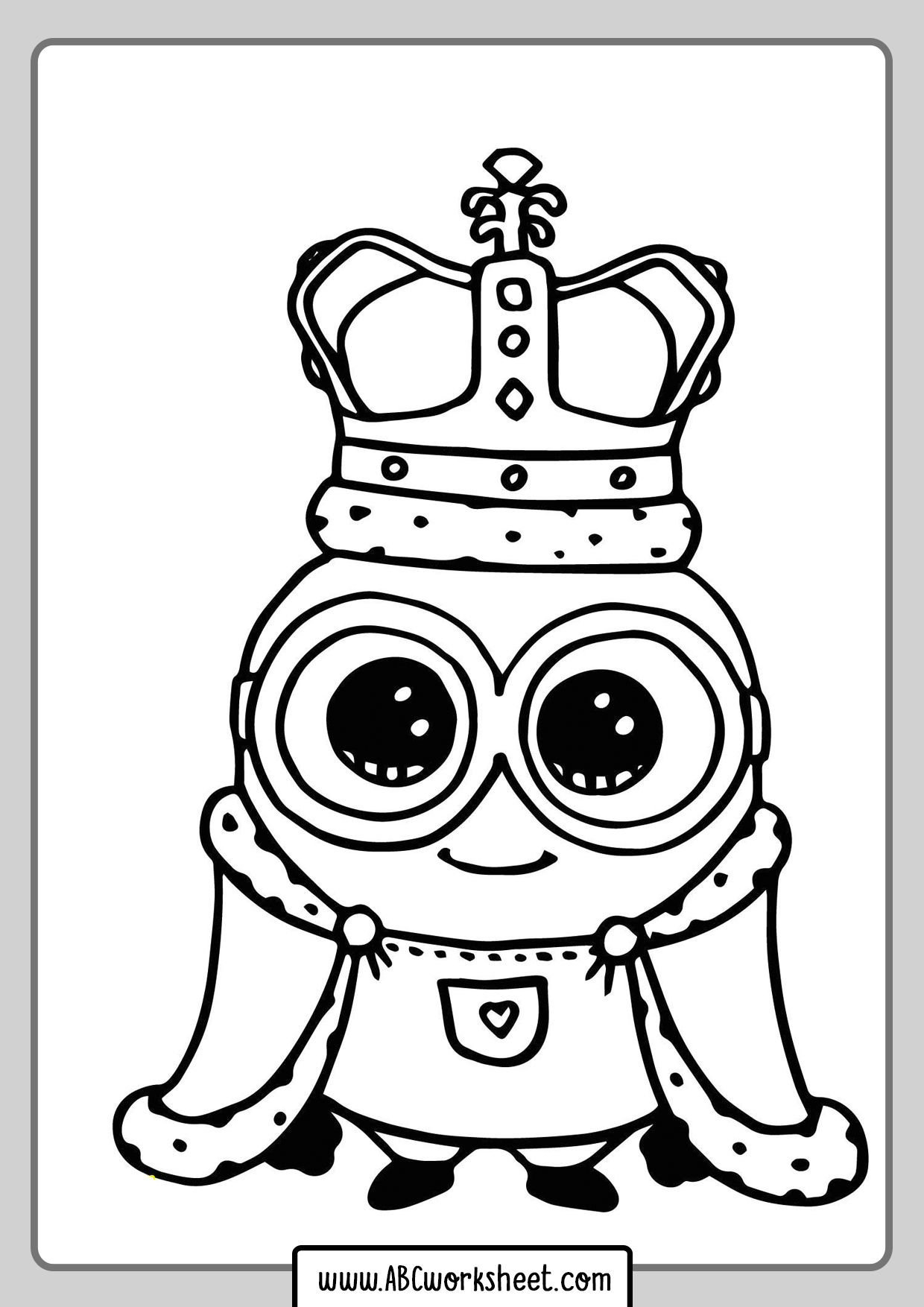 The Minions Coloring Pages For Kids