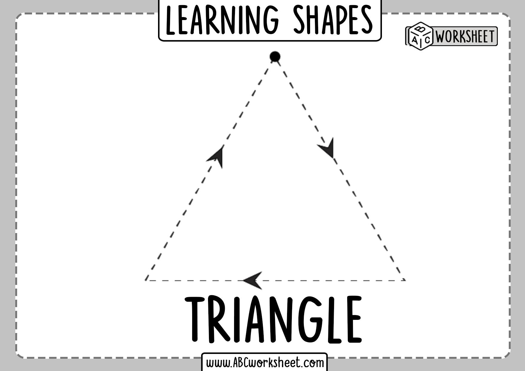 Tracing Basic Shapes Worksheet