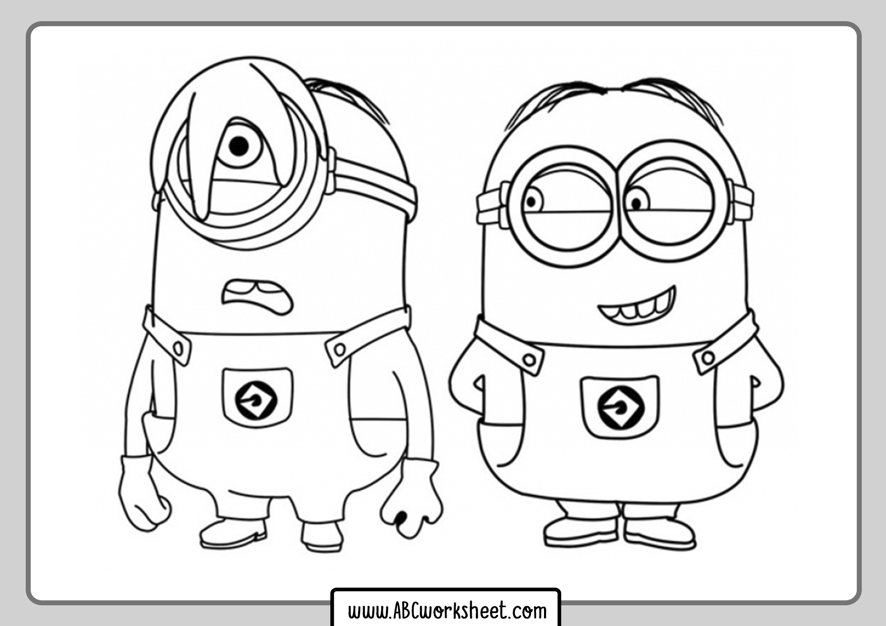 Twoo Minions Coloring Pages