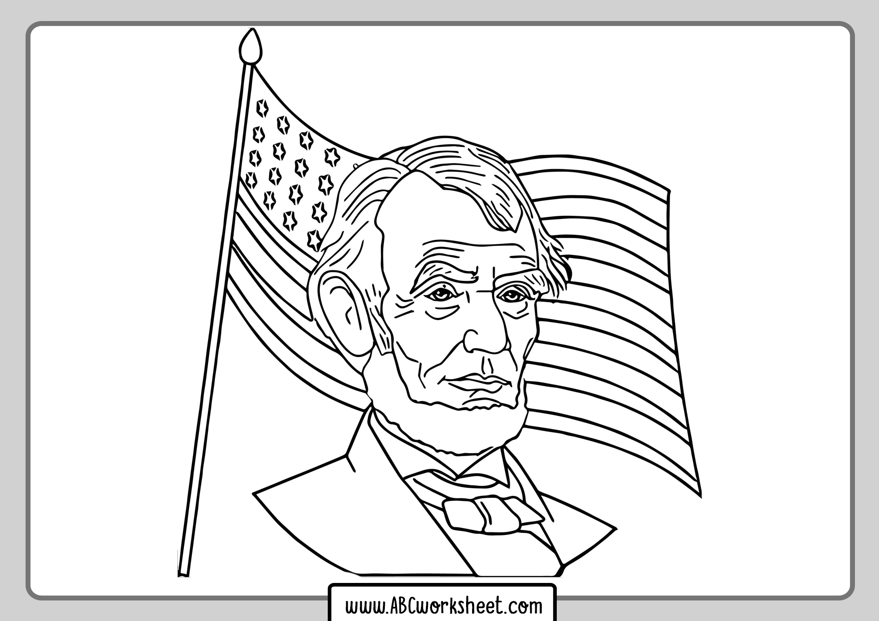 Abraham Lincoln Coloring Pages - Best Coloring Pages For Kids | 1240x1754