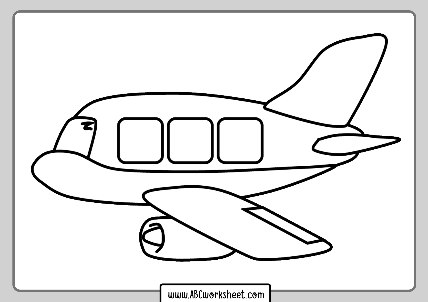 Airplane Drawing For Coloring