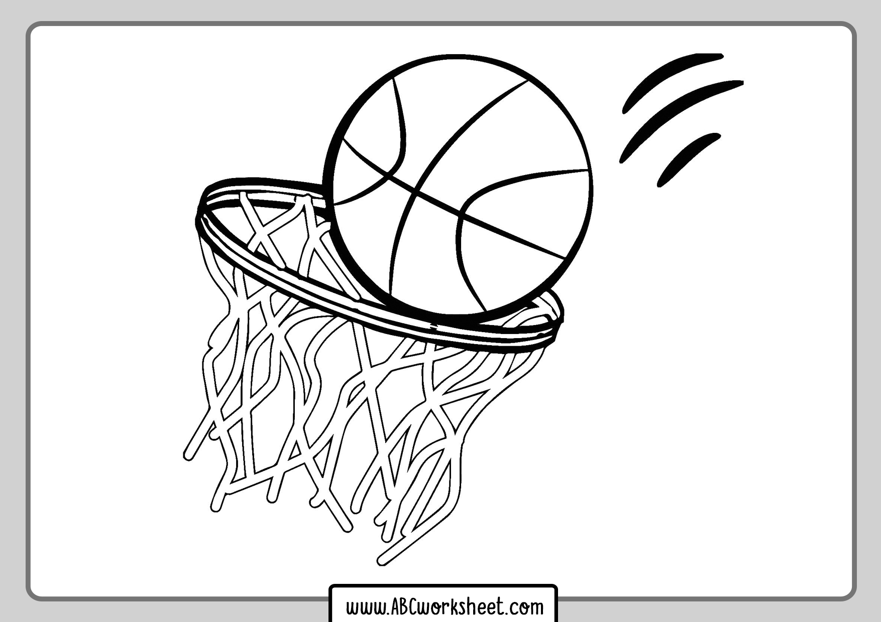 Basketball Ball Coloring Pages