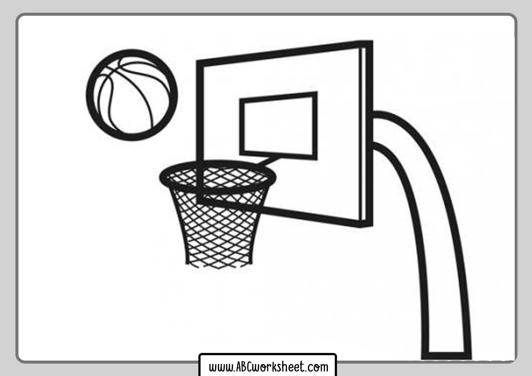 Basketball Basket Coloring Pages