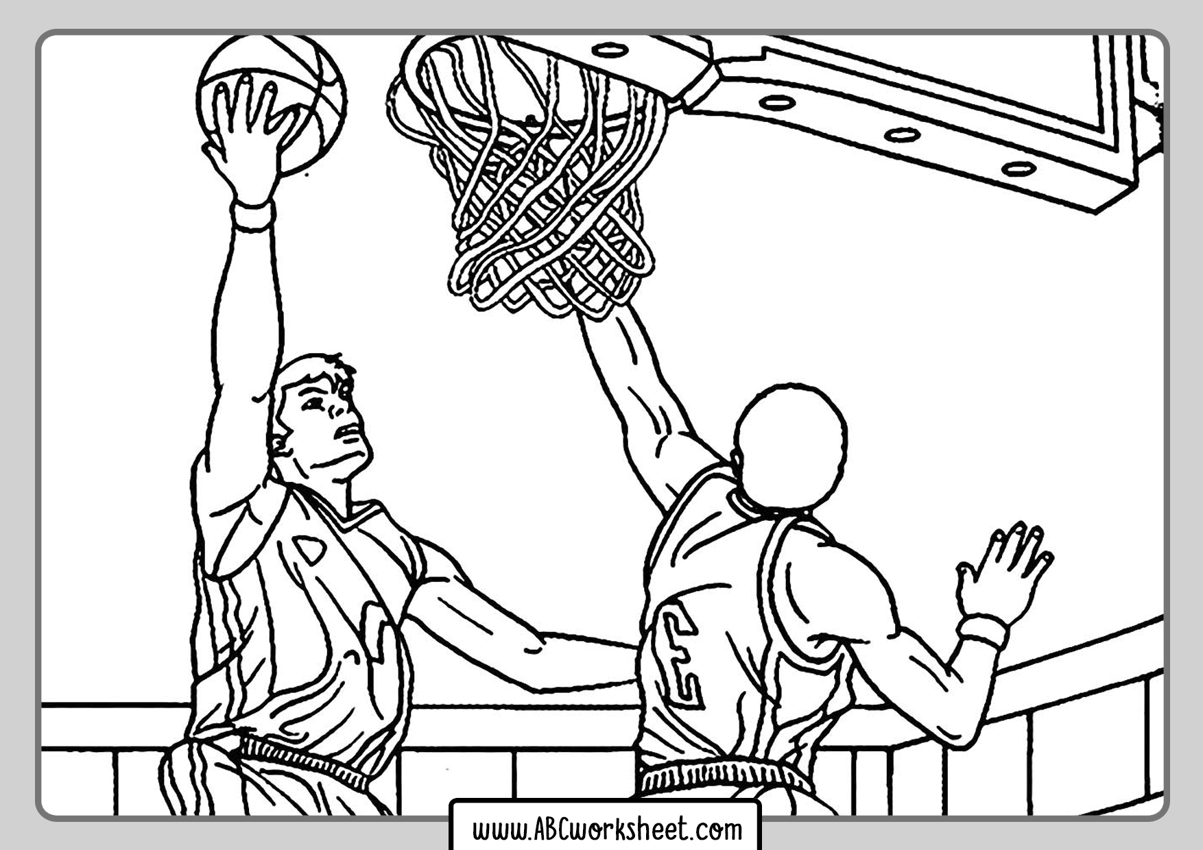 Basketball Players Coloring Pages