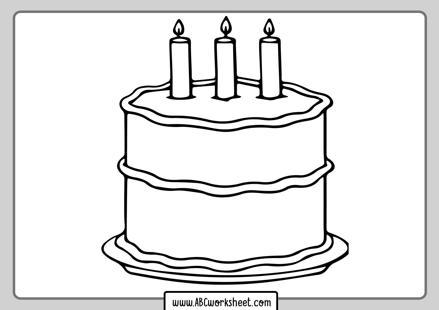 Cake For Coloring
