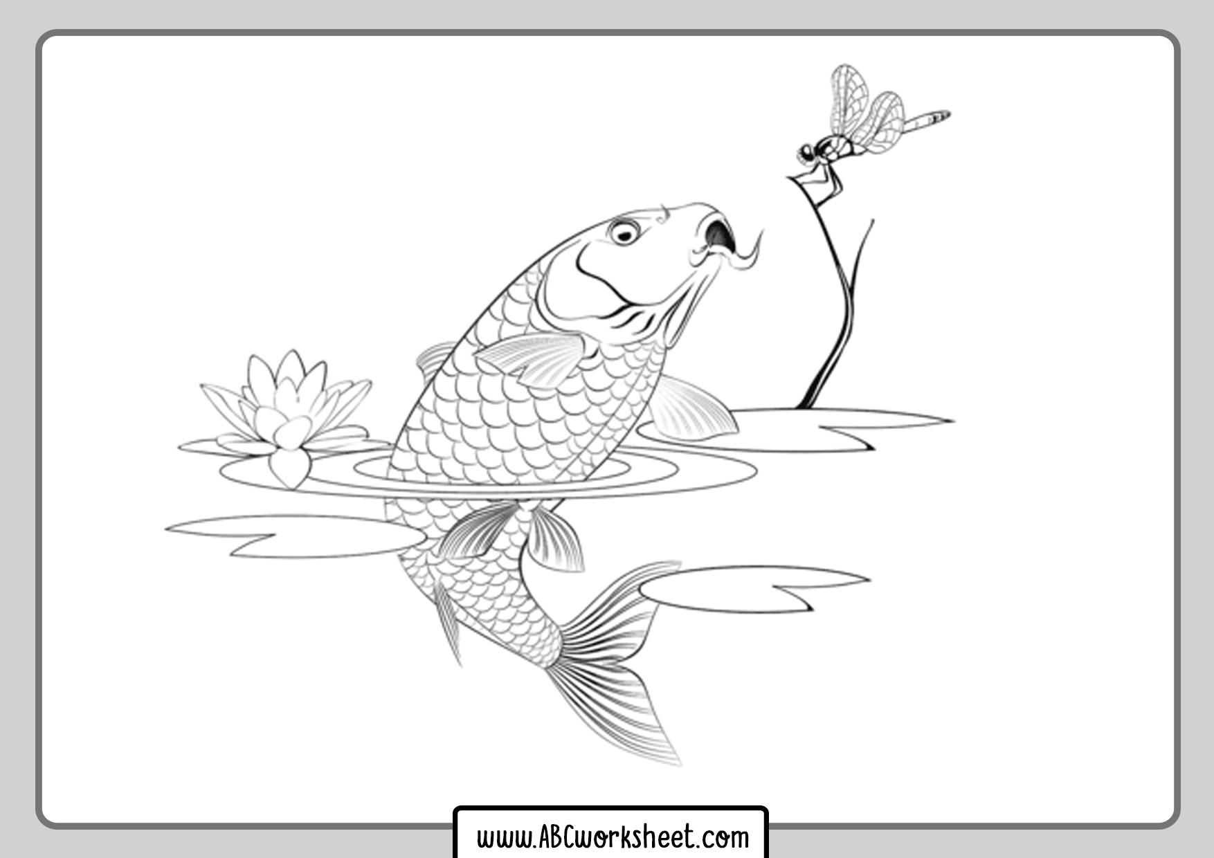 Carp Fish Coloring Page