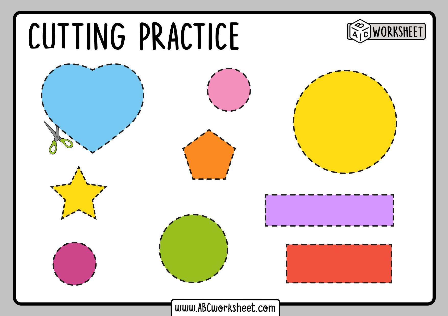 Cutting Shapes Practice For Kindergarten