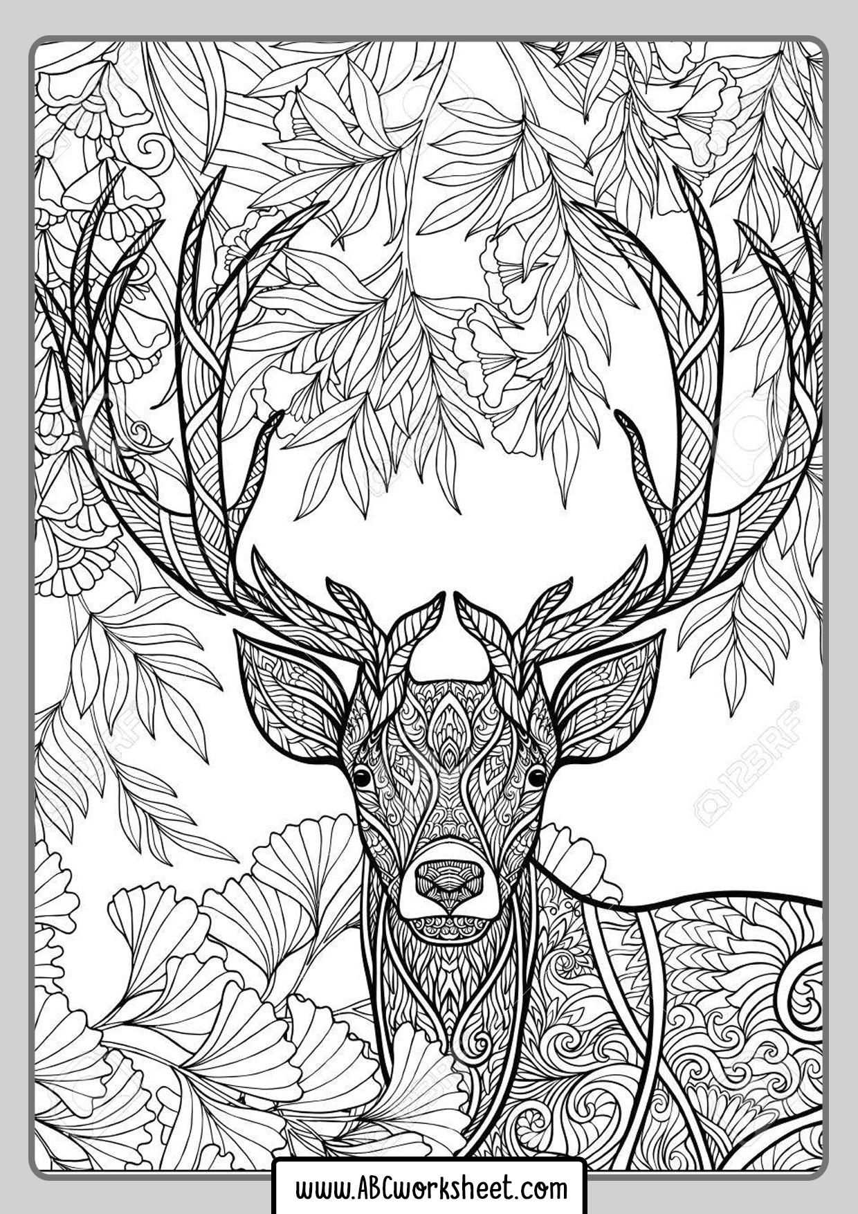 Deer Mandala For Coloring
