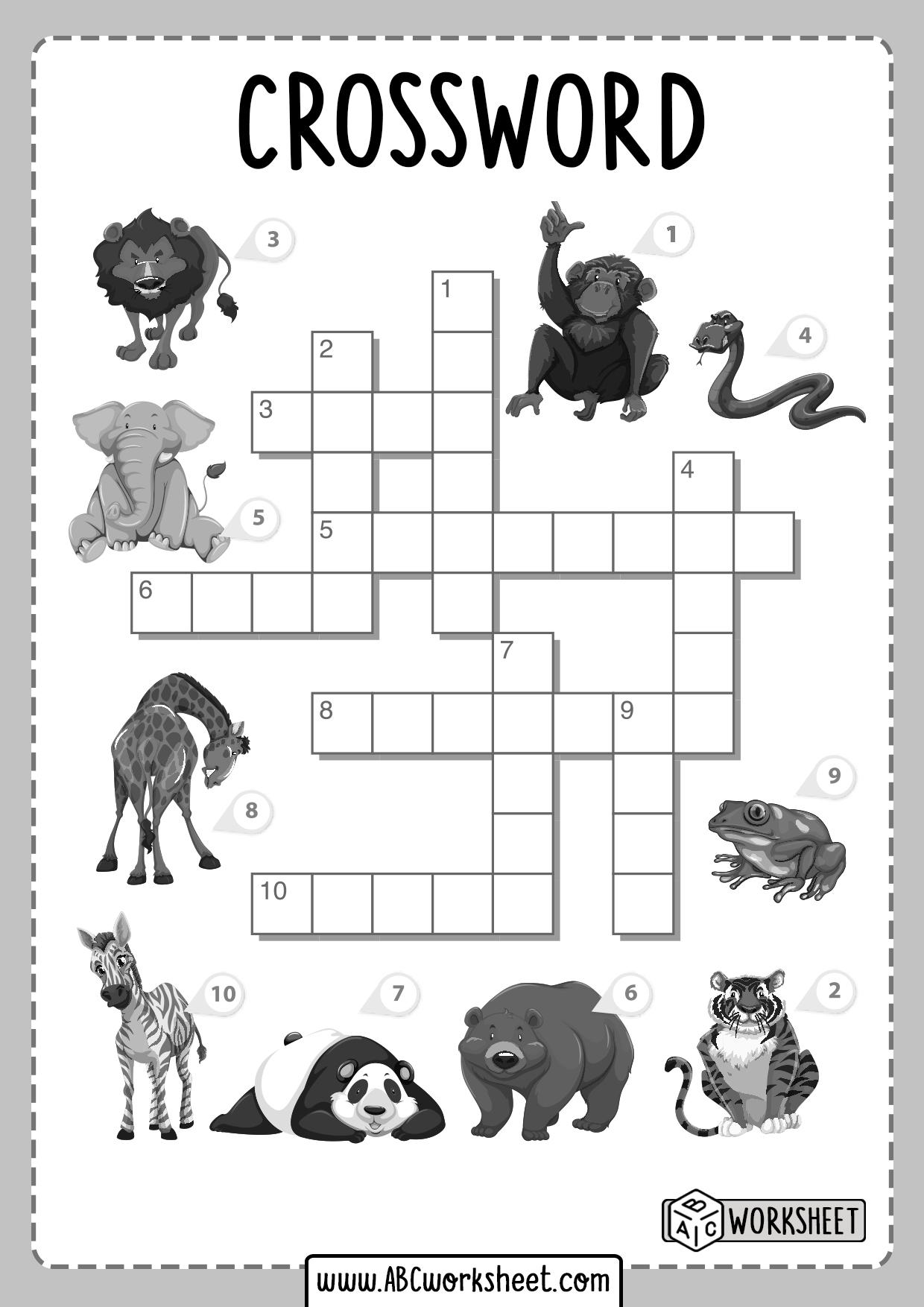 Crosswords Worksheets For Kids