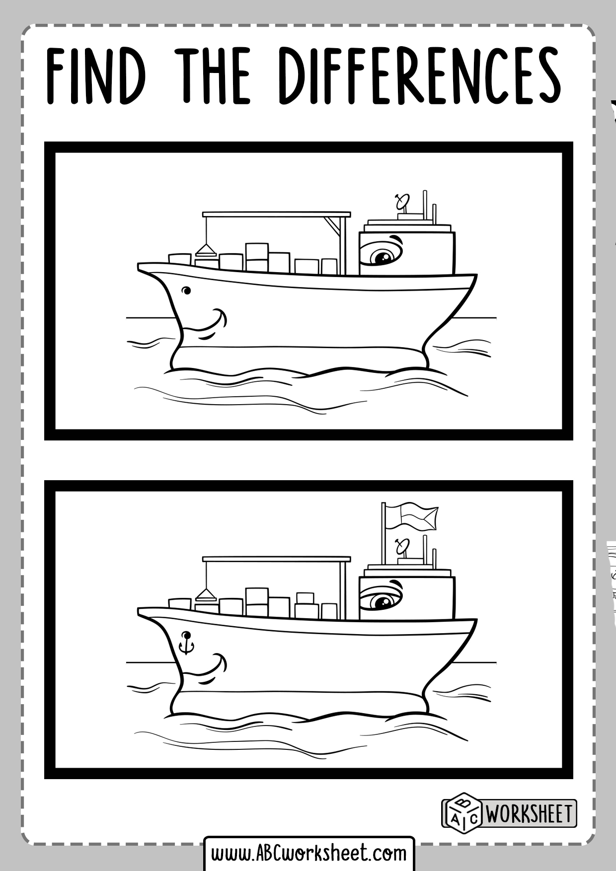 Educational Worksheets Spot The Differences