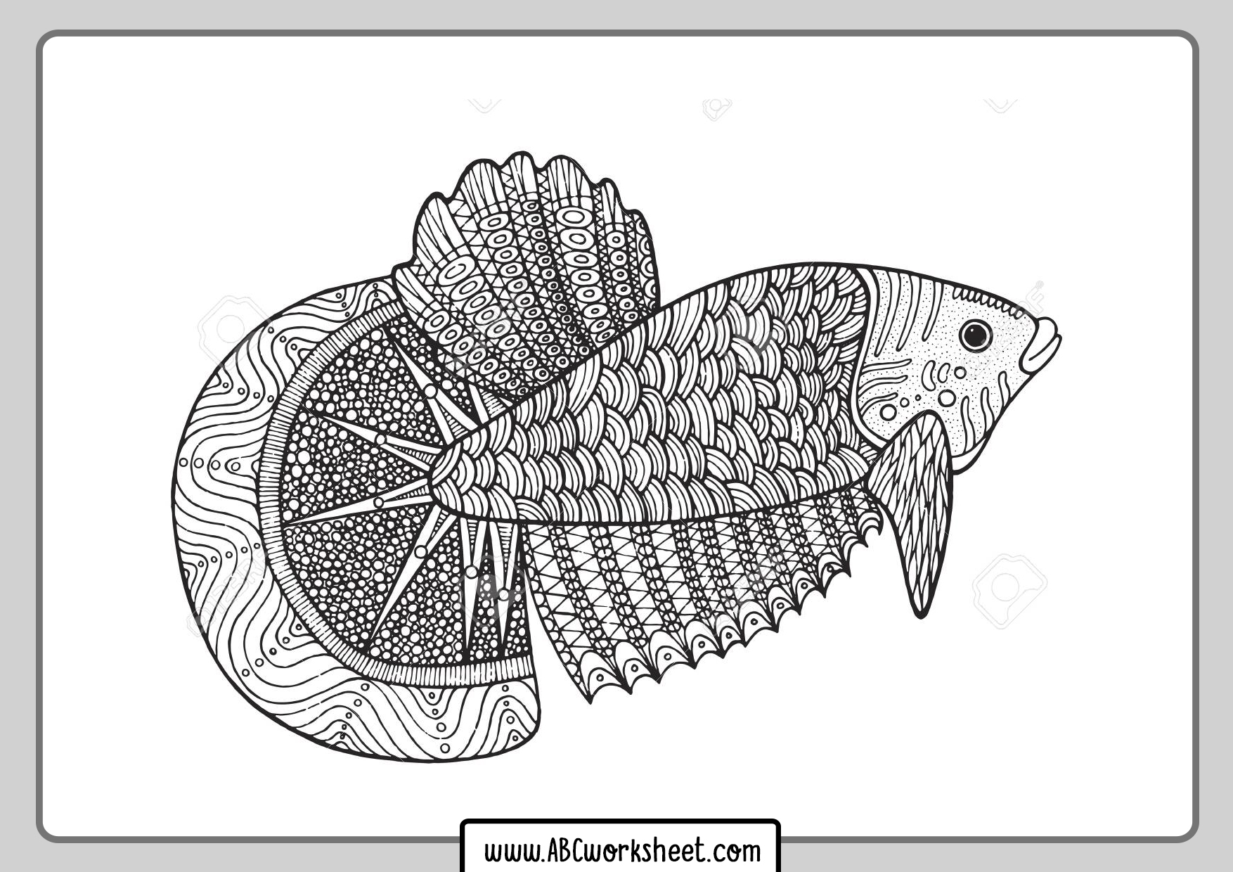Fish Coloring Mandala
