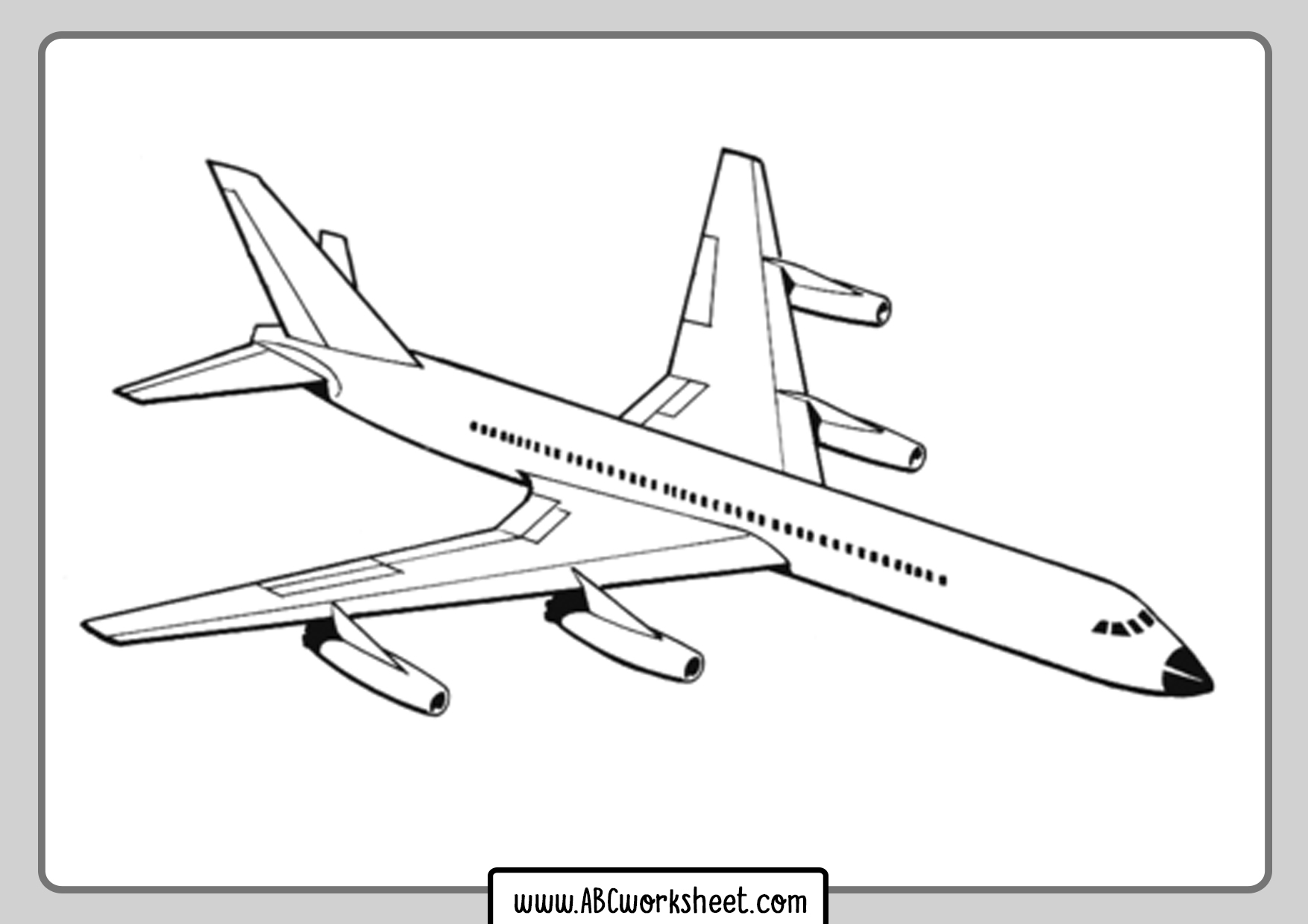 Free Printables Airplane Coloring Pages