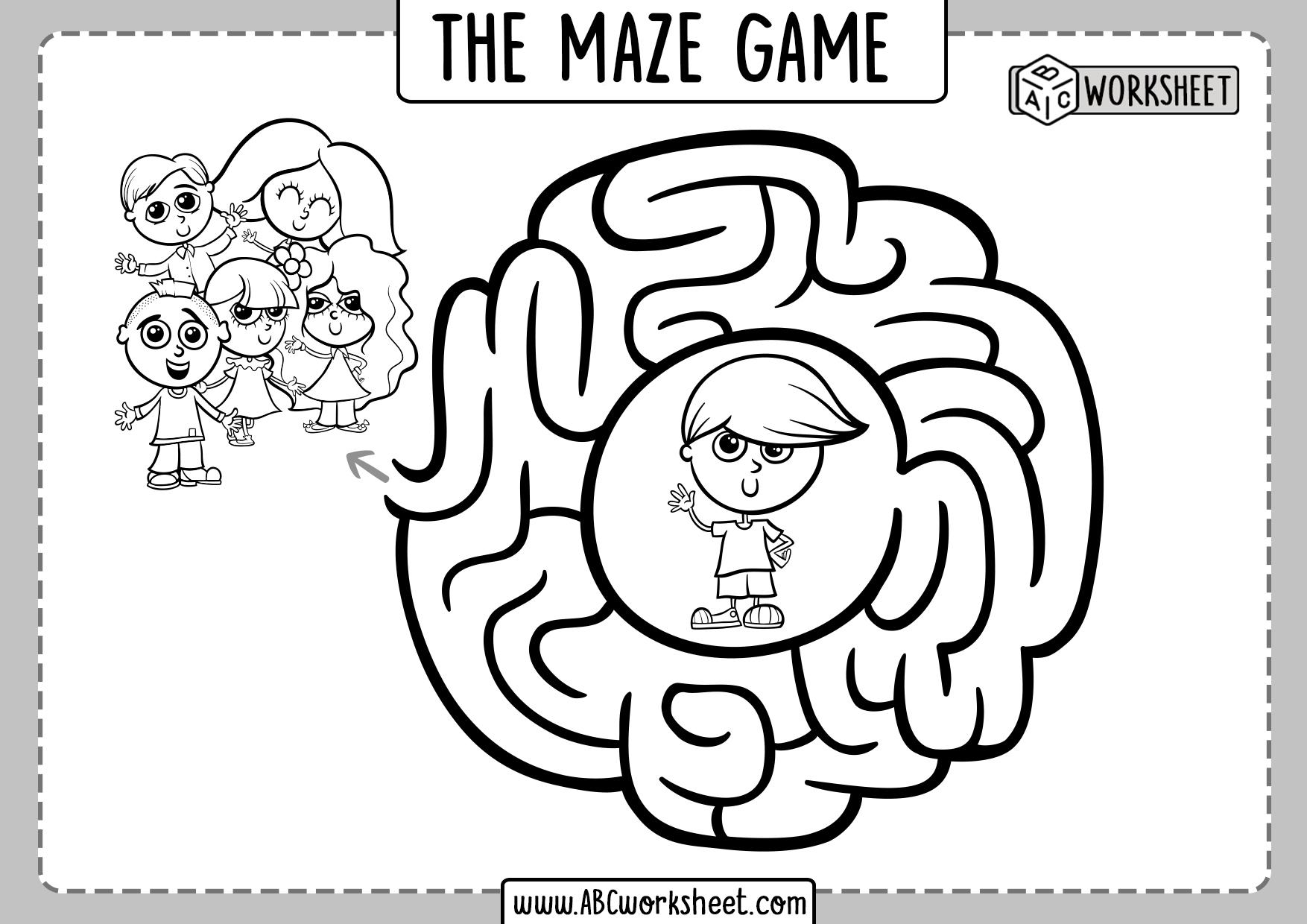 Game Puzzle Maze For Children