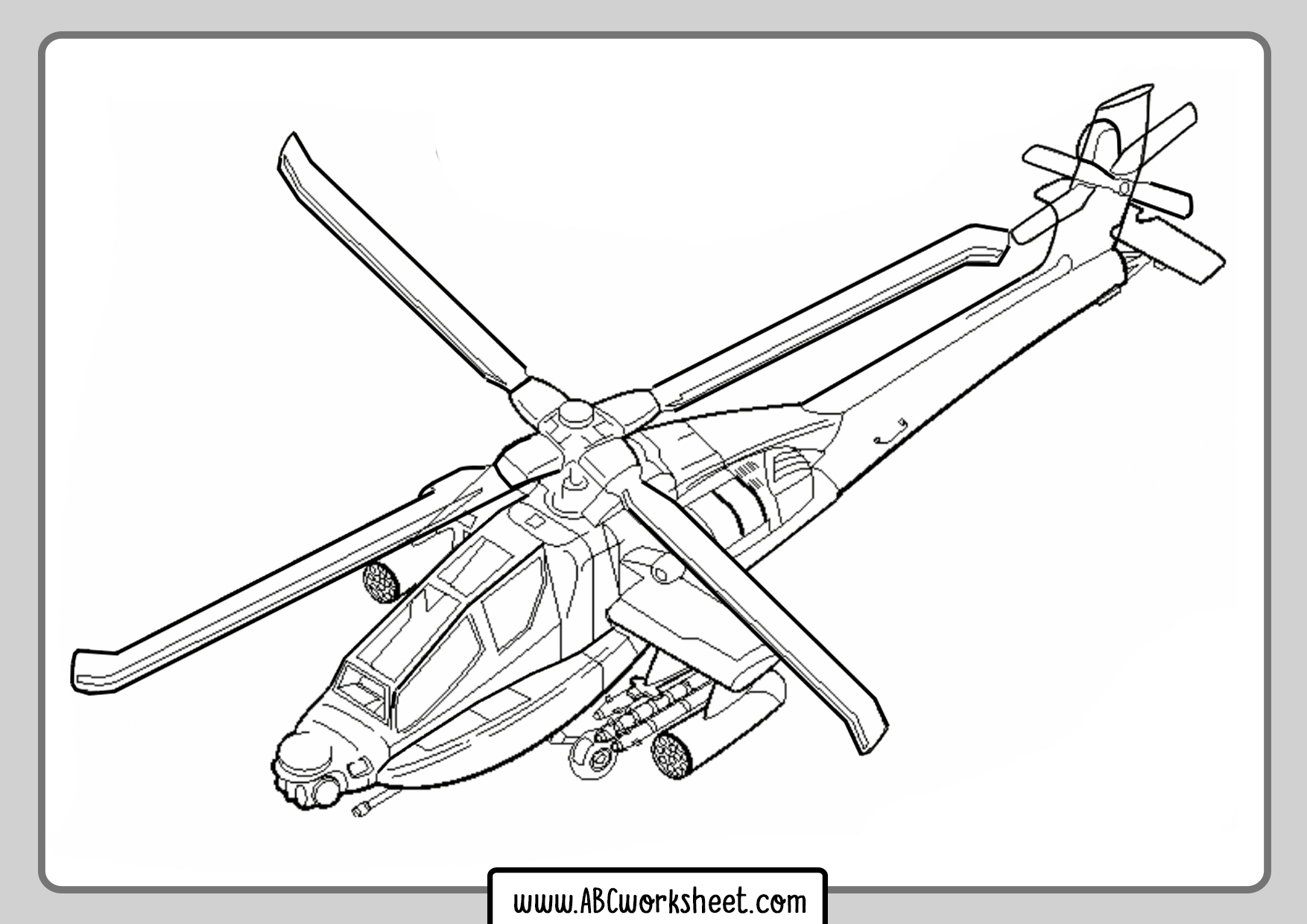 Helicopter Coloring Books
