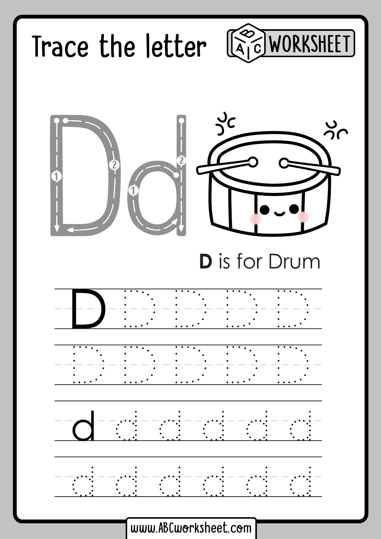 Letter D Tracing Worksheet