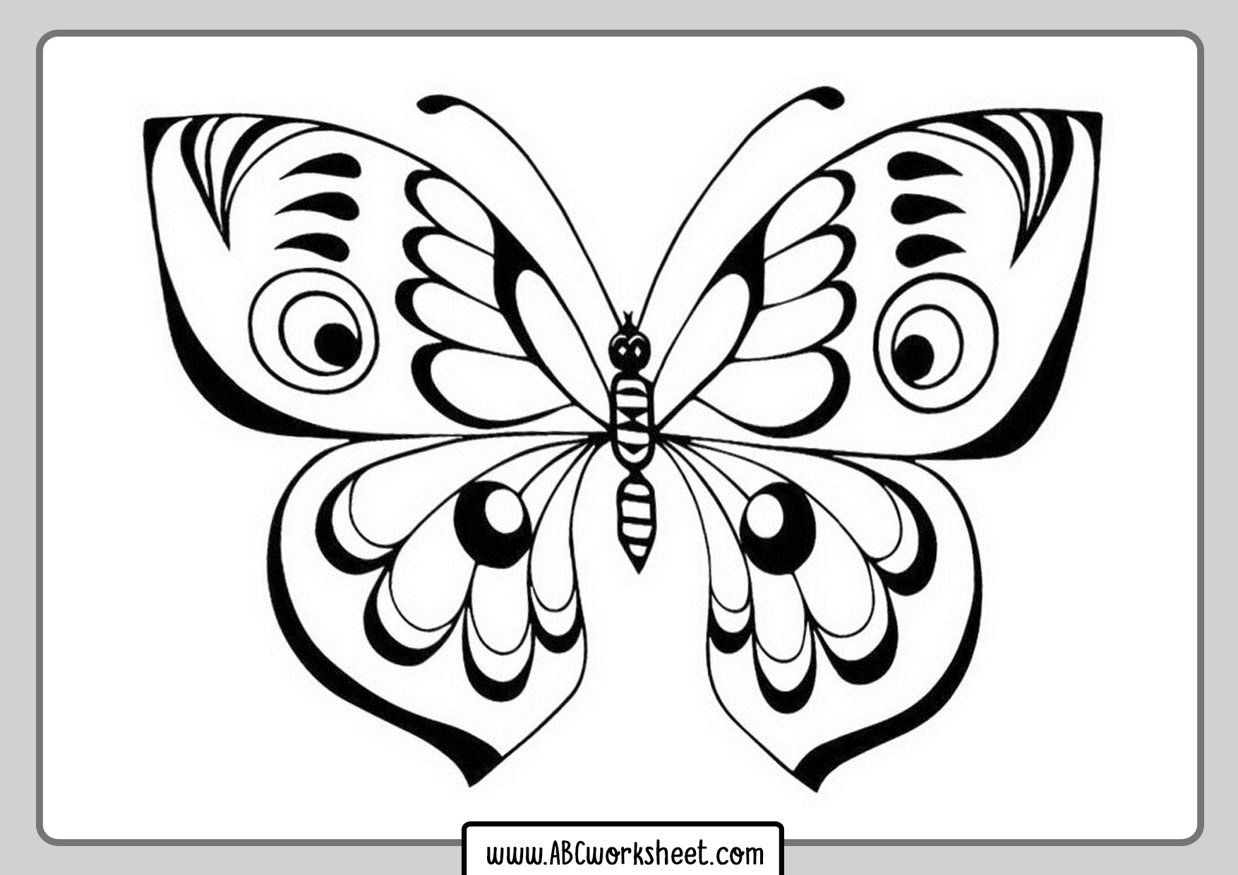 Printable Butterfly For Coloring