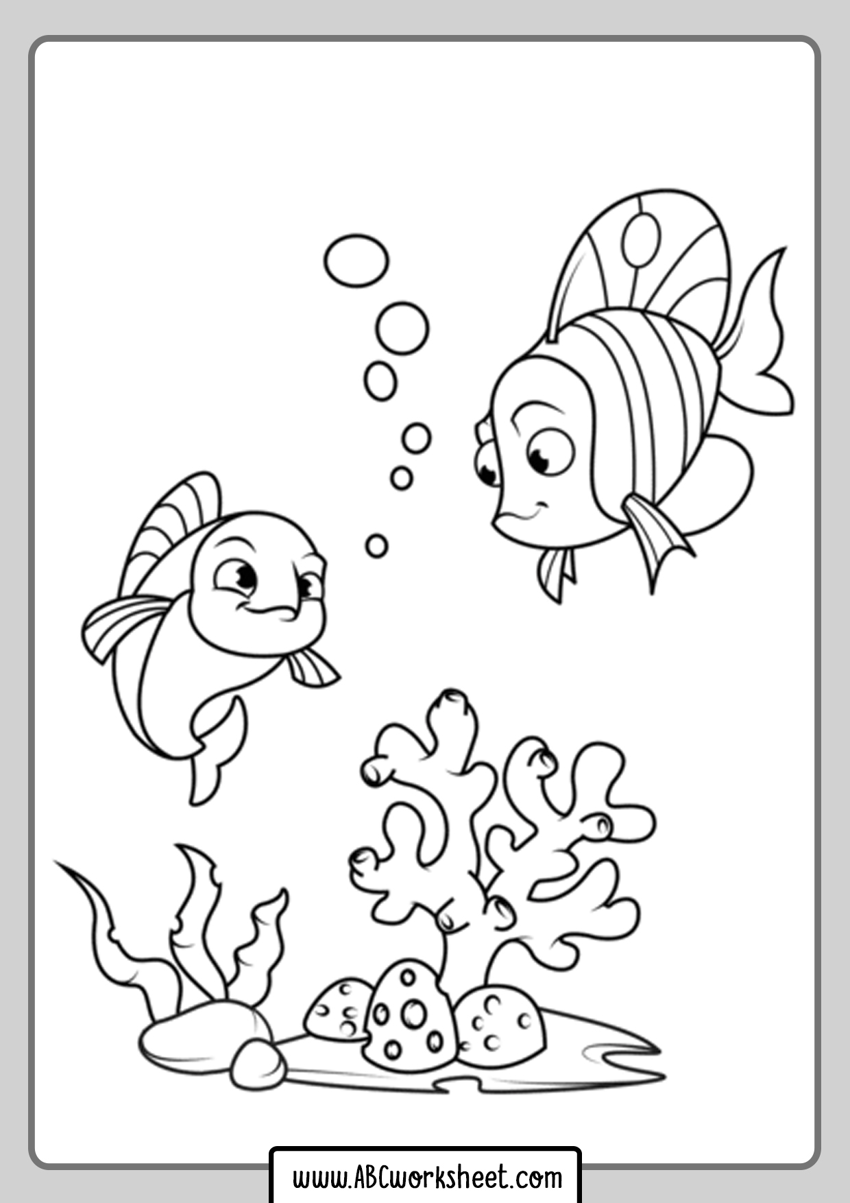 Printable Fish Picture For Coloring