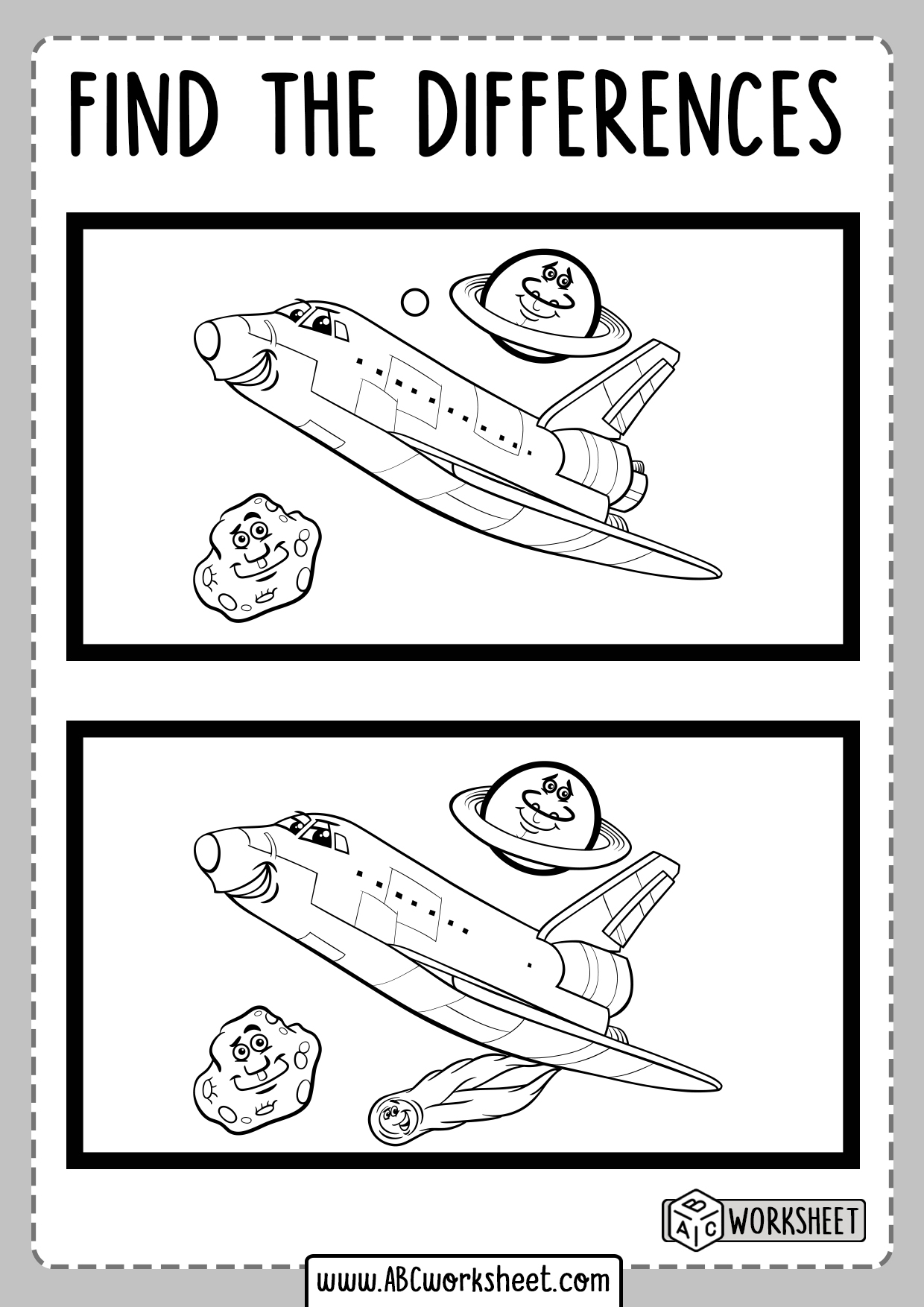 Printable Spot The Differences Worksheet