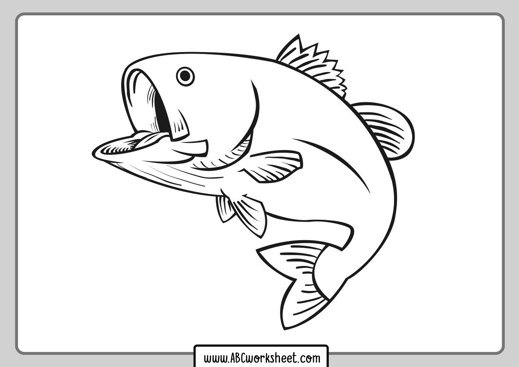 River Fish Coloring Printable