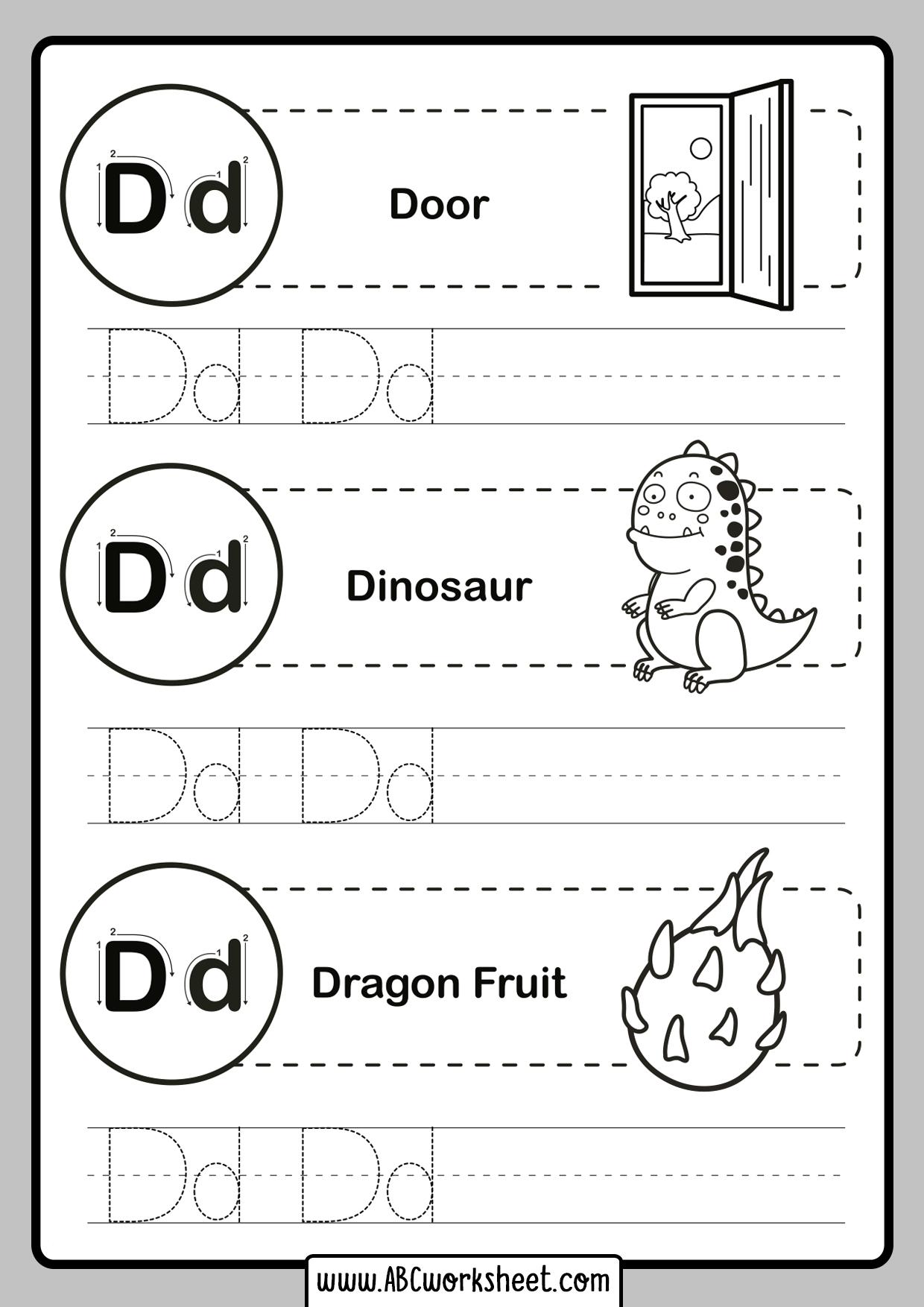 Tracing Letters For Kindergarten