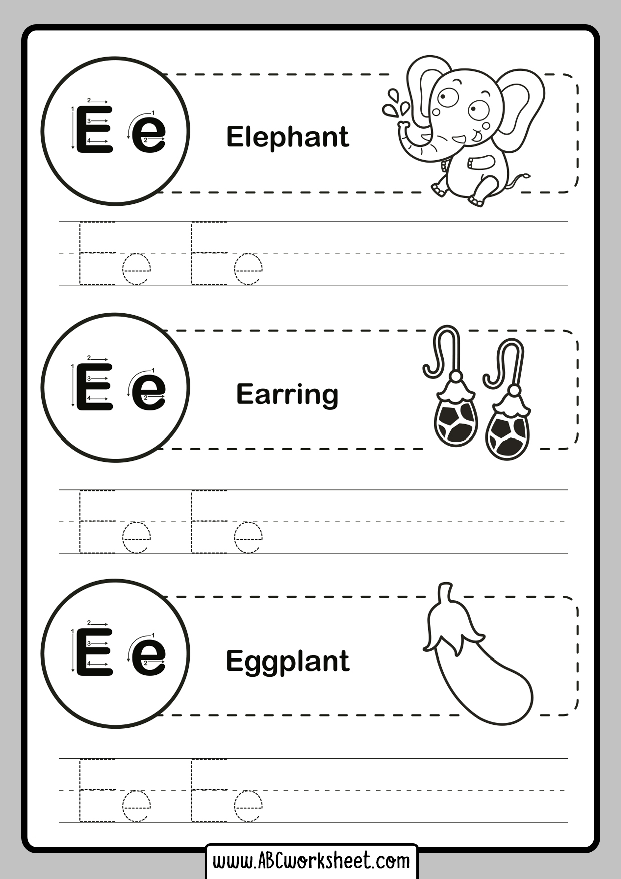 Tracing Letters For Preschool