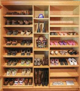 custom closet shoes