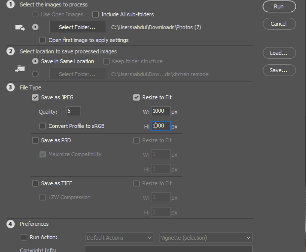 Batch Save for Web JPGs in Photoshop
