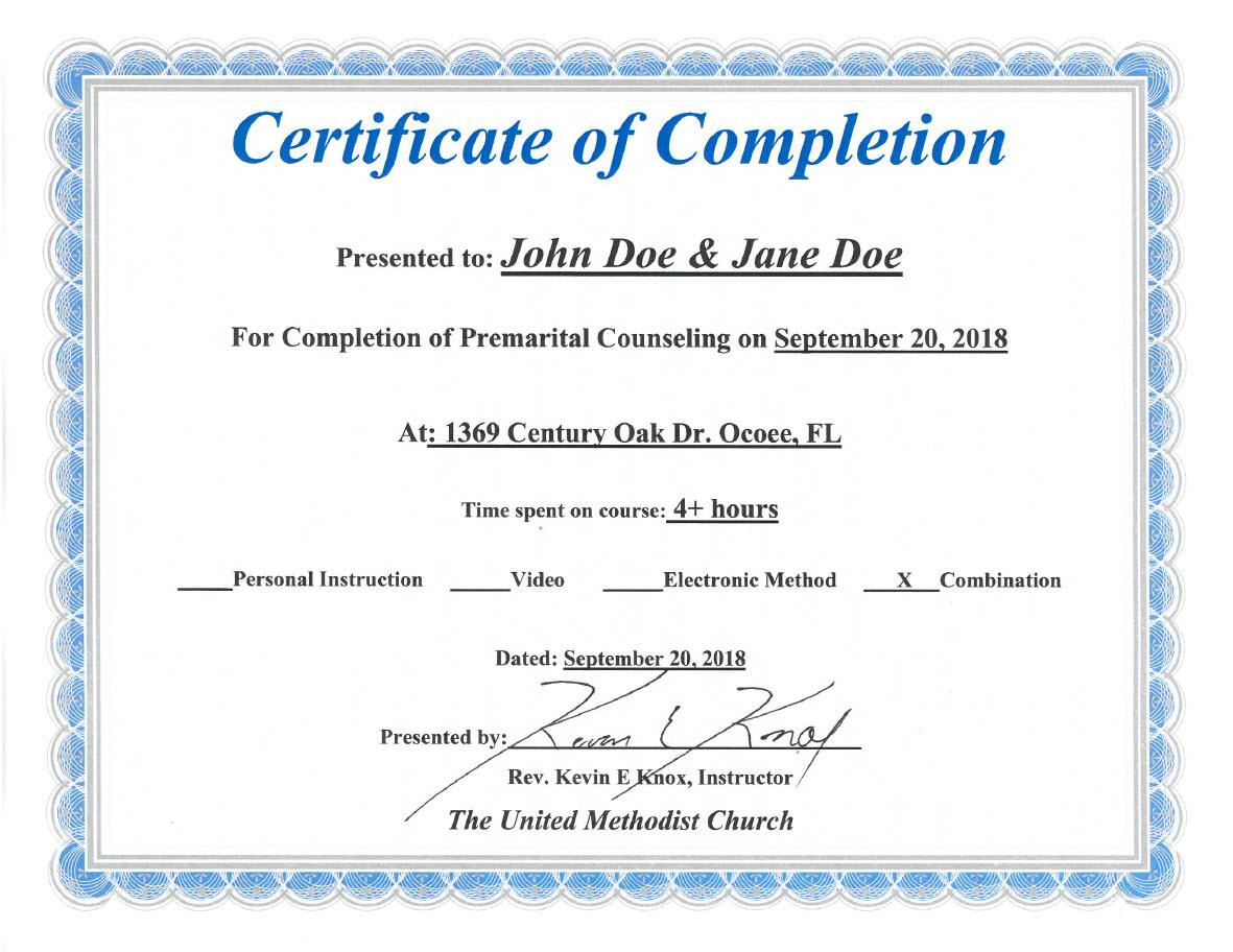 Florida Premarital Course Online Licensed Provider