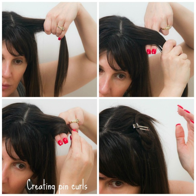 how to create pin curls to get beach waves