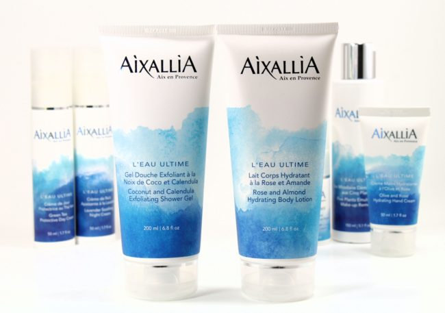 Aixallia shower gel and body lotion