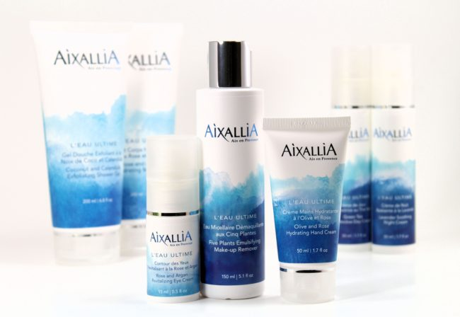 Aixallia makeup remover, eye cream, and hand lotion