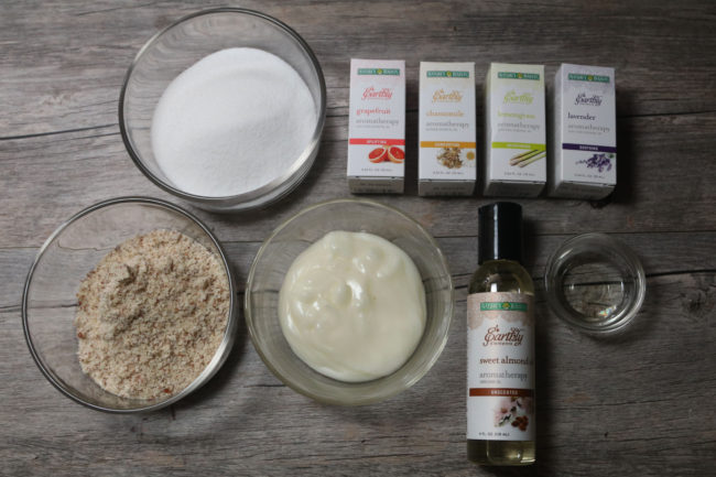 DIY Recipe body scrub Nature's Bounty Earthly Elements
