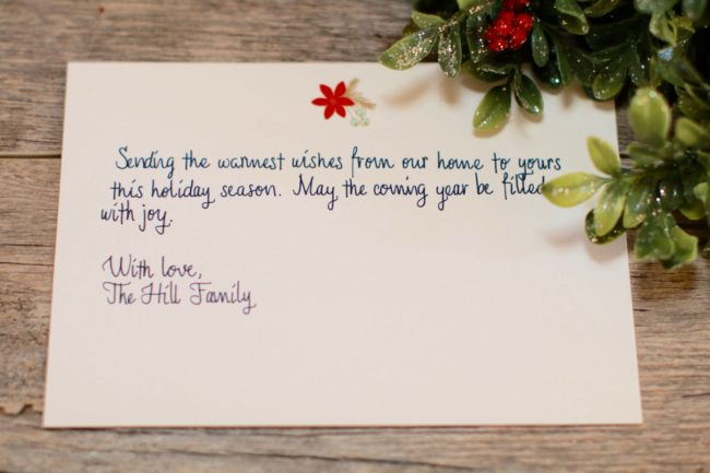 Bond Company Handwritten Cards holiday service