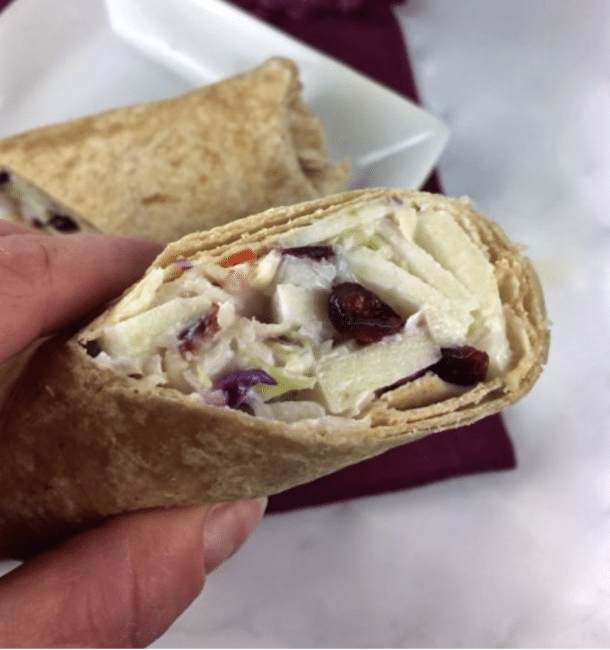 Recipe Apple Cranberry Slaw Wrap