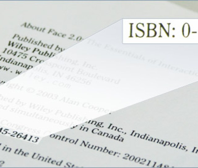 Example Of An Isbn On The Copyright Page