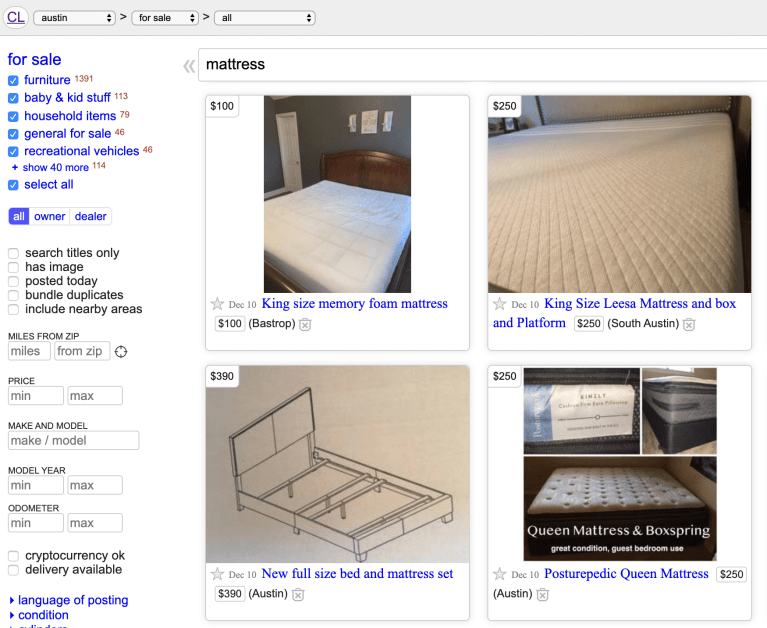 mattress-disposal-austin-craigslist