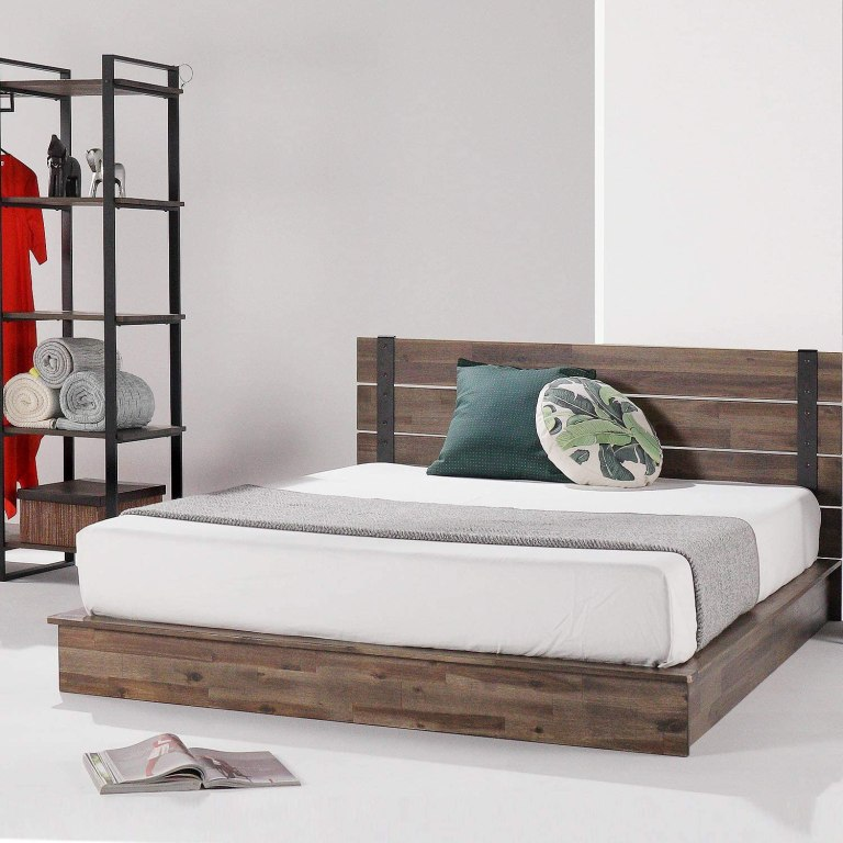 solid-wood-and-metal-bed