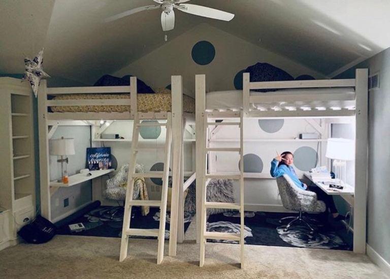 white-queen-loft-bed