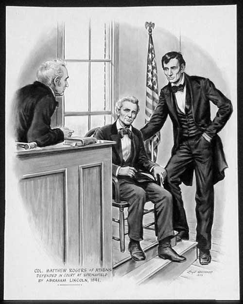 Lincoln as a lawyer by Lloyd Ostendorf