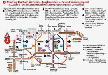 Ersatzverkehr auf der Ringbahn