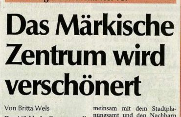Das Märkische Zentrum wird aufpoliert – wieder mal!