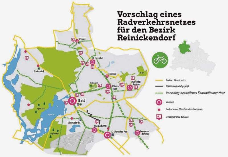 Grüne für Routen-Dreieck