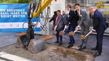 Drei Jahre Endspurt für Baustelle Karl-Marx-Straße