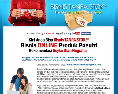 web replika bisnis tanpa stok - abenetworkgroup