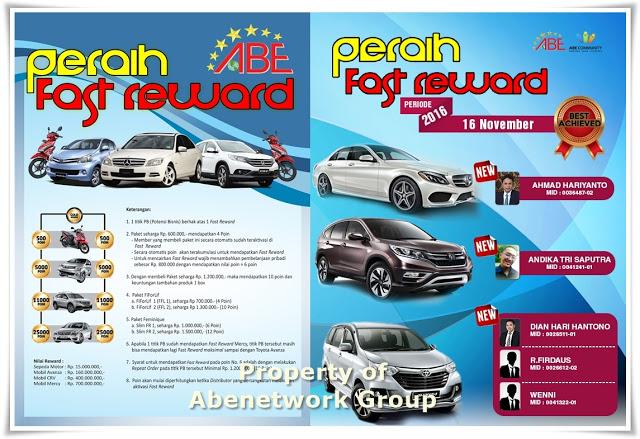 Peraih Fast Reward Kendaraan Abenetworkgroup