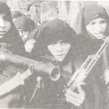 Muslim women with weapons.