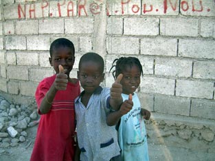Haitian children - faces of hope