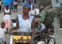 Haitian woman with grill